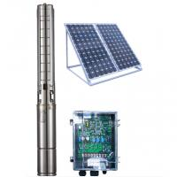 4 Inch DC Solar Deep Well Submersible Pump , Solar Powered Water Pump For Irrigation