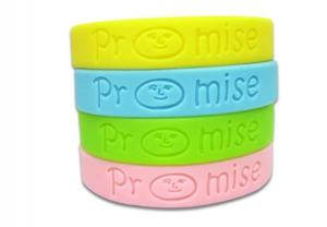 China Custom Rubber Wrist Bands Noctilucent Powder Glow In Dark Silicone bangle Bracelets on sale