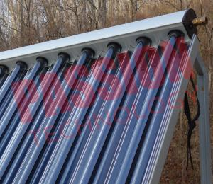 China Aluminum Alloy Heat Pipe Solar Collector For Low Temperature Area 15 Tubes on sale