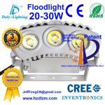 A luz de inundação 20-30W do diodo emissor de luz com CE, RoHS certificou e projetor refrigerando da eficiência do melhor feito em China