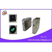 China Pedestrian Flap Barrier Gate Turnstile Access Full Automatic 30 Persons / Min on sale