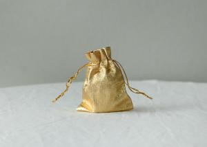 China Small Gold / Silver Drawstring Gift Bags For Candy / Perfume Bottle on sale