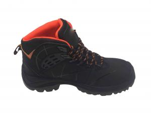 China Hard Wearing Men Work Boots Wave Mesh Lining Anti Skid Odour Resistant on sale