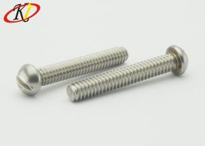 China Stainless Steel 18-8 Round Head Slotted Machine Screws on sale