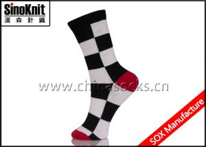 China Crew Cotton Women Casual Socks Autumn Knitted Ladies High Socks Multi Color on sale