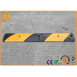 China Parking Stops Rubber Speed Cushions ,  Road Safety Black Portable Speed Humps on sale