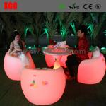 New Style Led Bar Chair / Led Furniture Led Table And Chairs