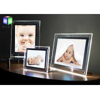 China 12 V Crystal Acrylic LED Light Box , Curved Angle Magnetic LED Light Box A3 Size on sale