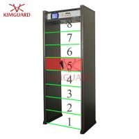 China Bilingual walkthrough metal detector gate with 8pinpoint detection zones andLED location on sale