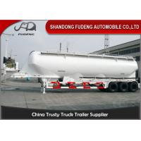 China Vertical Type Three Axles Bulk Powder Semi Tanker Trailer , Dry Van Trailer With Blower on sale