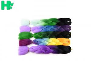 China 95 - 100g Artificial Synthetic Hair Pieces / Braiding Hair Extensions on sale