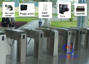 China Intelligent control Tripod Turnstile Gate / DC24V controlled access gates on sale
