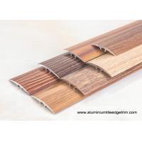 China Wood Effect Laminate Floor Metal Edging , Carpet To Wooden Floor Trim on sale