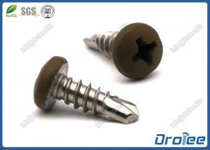 China 304/316/410 Stainless Steel Painted Head Self Drilling Screw, Phiips Pan Head supplier