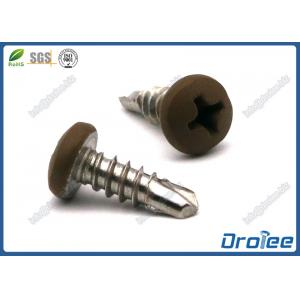 China 304/316/410 Stainless Steel Painted Head Self Drilling Screw, Phiips Pan Head on sale