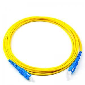 China SC/UPC Fiber optic patch cord Singlemode Simplex 2.0mm Yellow OFNP cable on sale