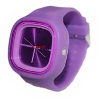 custom good quality colorful silicon details quartz jelly watch