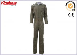 China Safety Petrol Blue Coverall Workwear Uniforms / Outdoor Work Clothes on sale