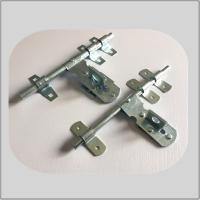 Nickel Plated Lockable Door Bolt , External Door Latch  White Zinc Surface Polish