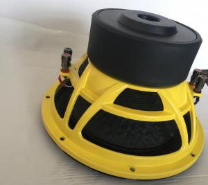 China Grande efficacité des Subwoofers 89dB de voiture de SPL de botte en caoutchouc avec le cadre jaune en acier de panier on sale