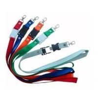 China Polyester cheap custom printing lanyard neck strap usb flash drive on sale