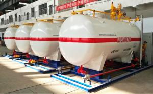 China 10CBM / 10000 Liters LPG Gas Storage Tank With Dispenser Equipments And Scales on sale