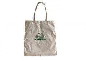 China 100% Organic Cotton Eco Friendly Reusable Shopping Bags 150 Gsm Tear Resistant on sale