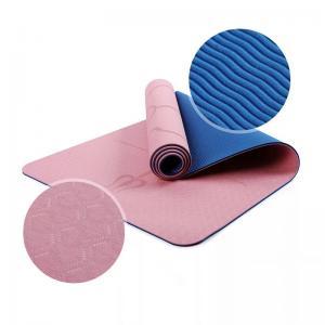China Eco Friendly TPE Yoga Mats/Custom Printed/ Non-slip exercise floor pattern waterproof washable sport TPE yoga mat on sale