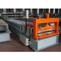 Corrugated Color Steel Roll Forming Machine , Roofing Sheet Forming Machine 18 Rows