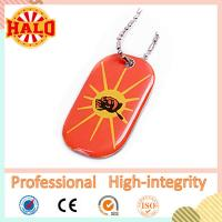 colorful print metal dog tag with epoxy stickers fashion dog id tag