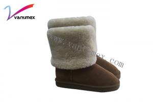 China Artificial fur low Womens Luxury Boots warm lady style EVA Outsole on sale