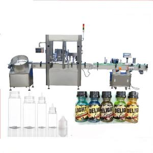 China Servo Motor Dropper Bottle Filling Machine , Touch Screen Control Perfume Capping Machine on sale