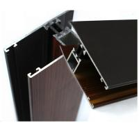 China Industrial Wood Finish Aluminium Profiles For Polycarbonate Sheet OEM / ODM on sale