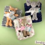 Children Animal Printed Flannel Swaddle Blanket For Home / Travel High Warmth Retention