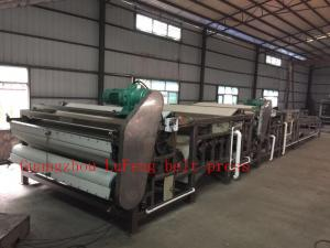 China waste water sludge belt press with carbon steel material and custom color on sale