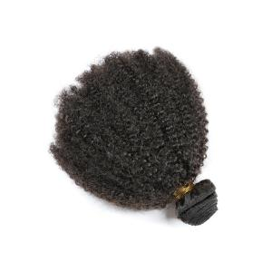 China Brazilian Virgin Human Hair Afro Kinky Curly Human Hair Extension Weft Good Ratio on sale