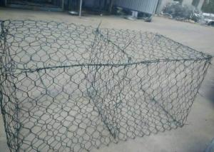 China PVC Coated Steel Double Twisted Hexagonal Wire Mesh 2.0 - 5.0 Mm Wire Diameter on sale