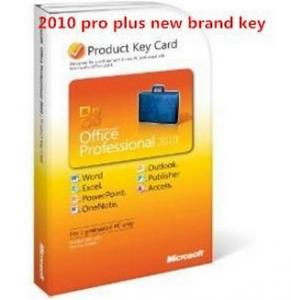 China Microsoft Office 2010 Product Key Card For Microsoft Office 2010 Professional Plus on sale