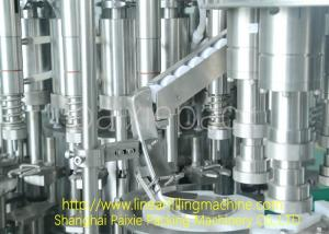 China Energy Saving 3 In 1 Filling Machine Syrup Glass Bottle Production Line Multifunctional on sale