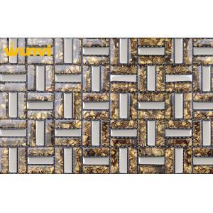 China low temperature resistant Bathroom Mosaic Tiles , Glass Mosaic Floor Tile on sale