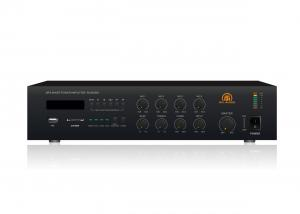 China RH-AUDIO Desktop PA Mixer Amplifier With SD USB FM Tuner Player on sale