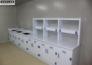 China PP Drawer Science Lab Tables With Sinks , Adjustable Lab Bench Epoxy Resin Countertops on sale