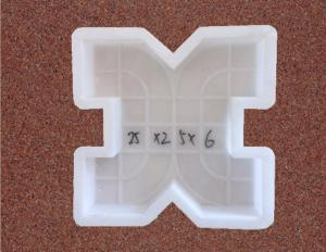 China Cement Tiles Paver Block Moulds X - Type Grass Concrete Walkway Molds PP Material on sale