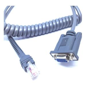 China 7ftCoiledMotorola Symbol cable RS232 Cable For use with LS1203 LS2208 And LS4208 Scanners on sale