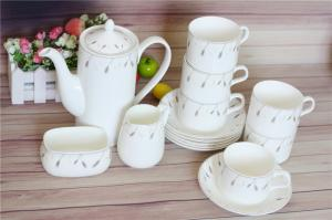 China New bone China tea set with Nice Appearance and Fashionable Design,  Customized designs are accepted on sale