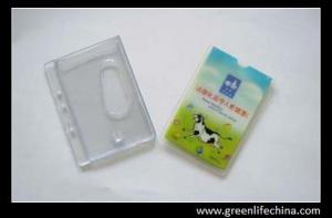 China Popular plastic gift badge id card holder with full face customized printing on one side on sale
