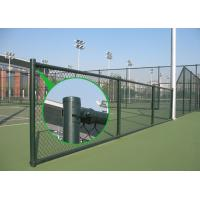 China Black Chain Link Fence with Barbed Wire on sale