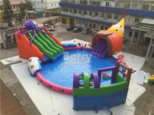 China Giant Outdoor Inflatable Water Park , Custom Children Octopus Water Slide on sale