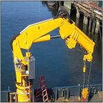 Knuckle Hydraulic Ship Pedestal Marine Deck Crane Price Marine Ship Crane