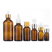 China 5ml-100ml Amber Essential Oil Glass Bottles With Caps or Droppers on sale